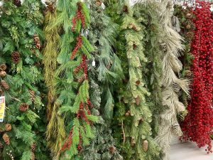 Lifelike Artificial Wreaths and Garland